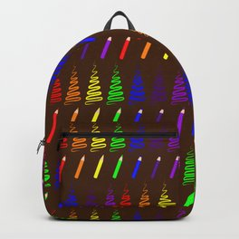 Rainbow Pencil Coloring Trees Backpack