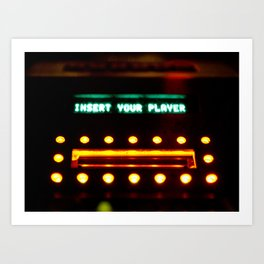 Insert Your Player Art Print