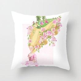 Marie Antoinette Coiffure Parterre Throw Pillow