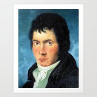 beethoven Art Prints featuring Beethoven by SuchDesign