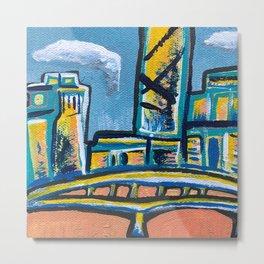 Brisbane City Painting Metal Print