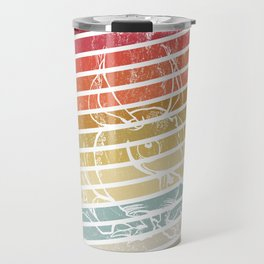 Colorful Armadillo Lover Retro Art Gift design Travel Mug