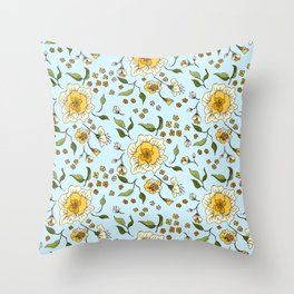 Floral Rose 0024  Throw Pillow