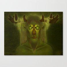 Horned Deity Canvas Print