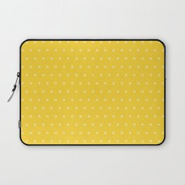 Yellow and white cross sign pattern Laptop Sleeve
