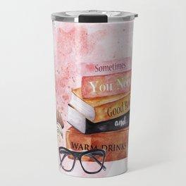 Books and Coffee Travel Mug