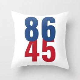 86 45 Anti Trump Impeachment T-Shirt / Politics Gift For Democrats, Liberals, Leftists, Feminists Throw Pillow