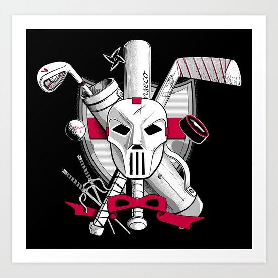 TMNT Casey Jones Art Print