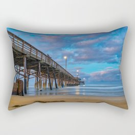 Dawn Long Exposure at Newport Pier Rectangular Pillow