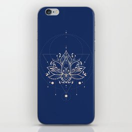 Lotus Dark iPhone Skin