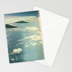 wanderlust airplane Stationery Cards