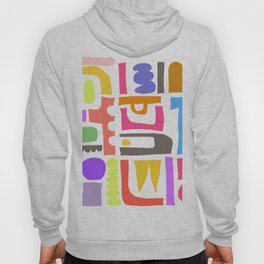 Abstrakte Formen 003 / An Abstract Mid-Century Style Composition Hoody
