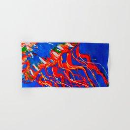 Red Jellyfish Hand & Bath Towel