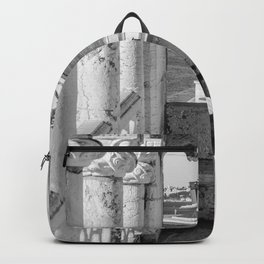 Lisbon Belem tower black white Backpack
