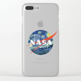 Nasa Starry Night Clear iPhone Case