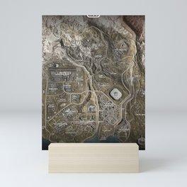 COD Warzone Map Season 4 Mini Art Print