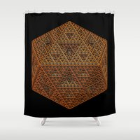geometry Shower Curtains featuring Geometry by Lyle Hatch