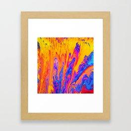 Over Active Brain Activity Fluid Abstract 60 Framed Art Print