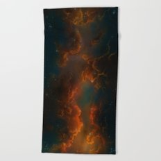 Nebula Glow Cloud   Beach Towel