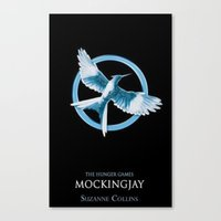 mockingjay Canvas Prints featuring Mockingjay by Diego Guzman
