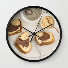 Slice of marble cake Wall Clock