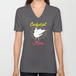 Cockatiel Cockatiel Mom Gift Unisex V-Neck
