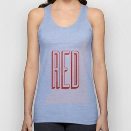 RED Unisex Tank Top
