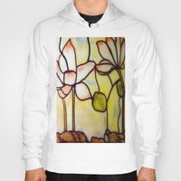stained glass Hoodies featuring Stained Glass by Debra Ulrich