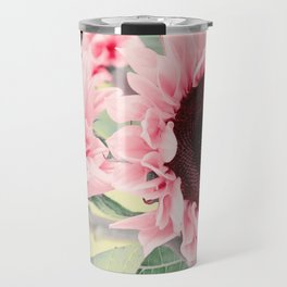 Pink Sunflowers Travel Mug