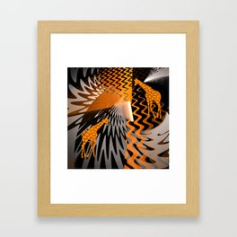 bstract waves and Zebra Framed Art Print