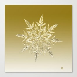 Crystal Snowflake Canvas Print