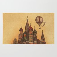 moscow Area & Throw Rugs featuring Moving to Moscow by Terry Fan