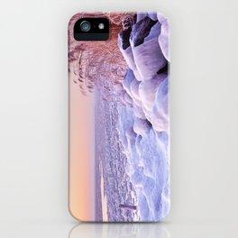 Frozen lake Markermeer, The Netherlands at sunrise iPhone Case