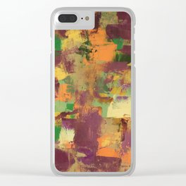Purple and Yellow Clear iPhone Case