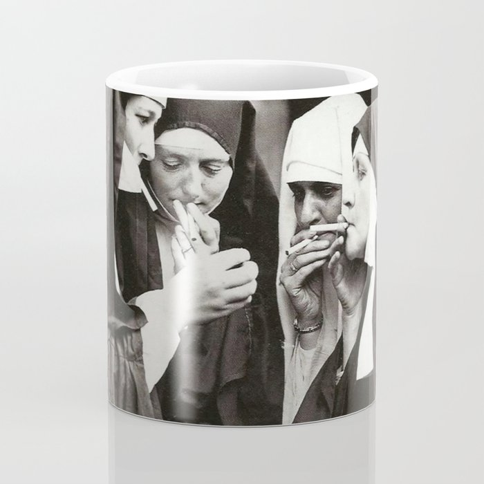 Nuns Smoking Coffee Mug