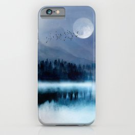 Mountainscape Under The Moonlight iPhone Case