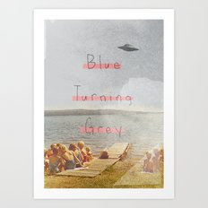 Blue Turning Grey | Collage Art Print