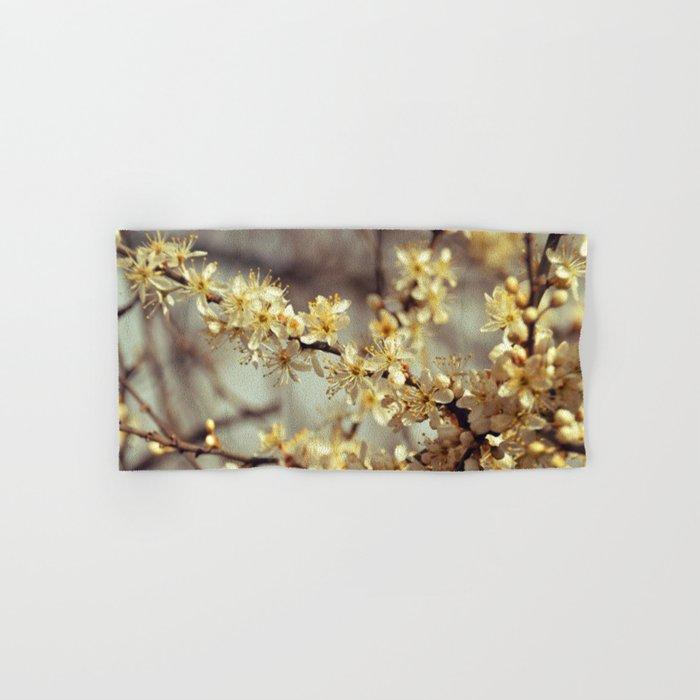 Sunny Cherry Blossom  Hand & Bath Towel