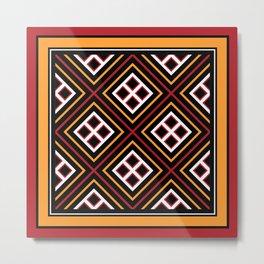 Toraja Pattern pa're'po' sanguba ( dancing alone ) Metal Print