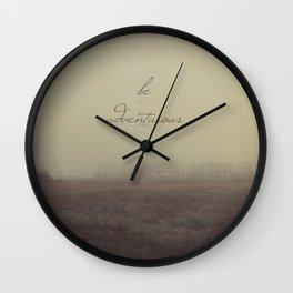 Be Adventurous Wall Clock