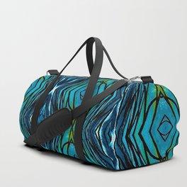 Blue Pattern Duffle Bag
