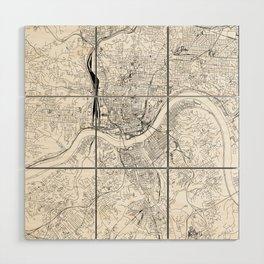 Cincinnati White Map Wood Wall Art