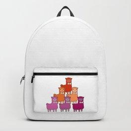 Lesbian llamas cute LGBT Backpack