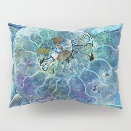 Aqua seashell - mother of pearl - Beautiful backdrop Pillow Sham