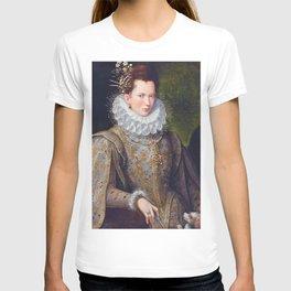 Portrait of Court Lady with Dog by Lavinia Fontana T-shirt
