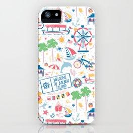 Newport Harbor Doodles iPhone Case