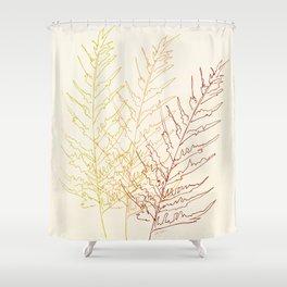 Red Ferns Shower Curtain