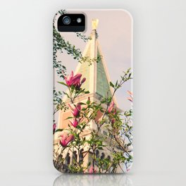 Magnolia Campanile Spring Venice Italy Travel Photography iPhone Case