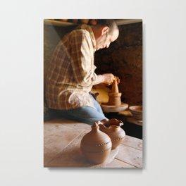 Potter working Metal Print
