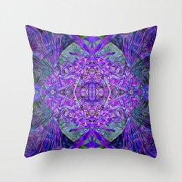 Density Portal Crystal Dimension Codes Throw Pillow